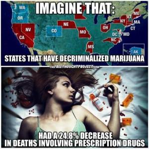 benefits of legal marijuana - drop in drug overdose rates