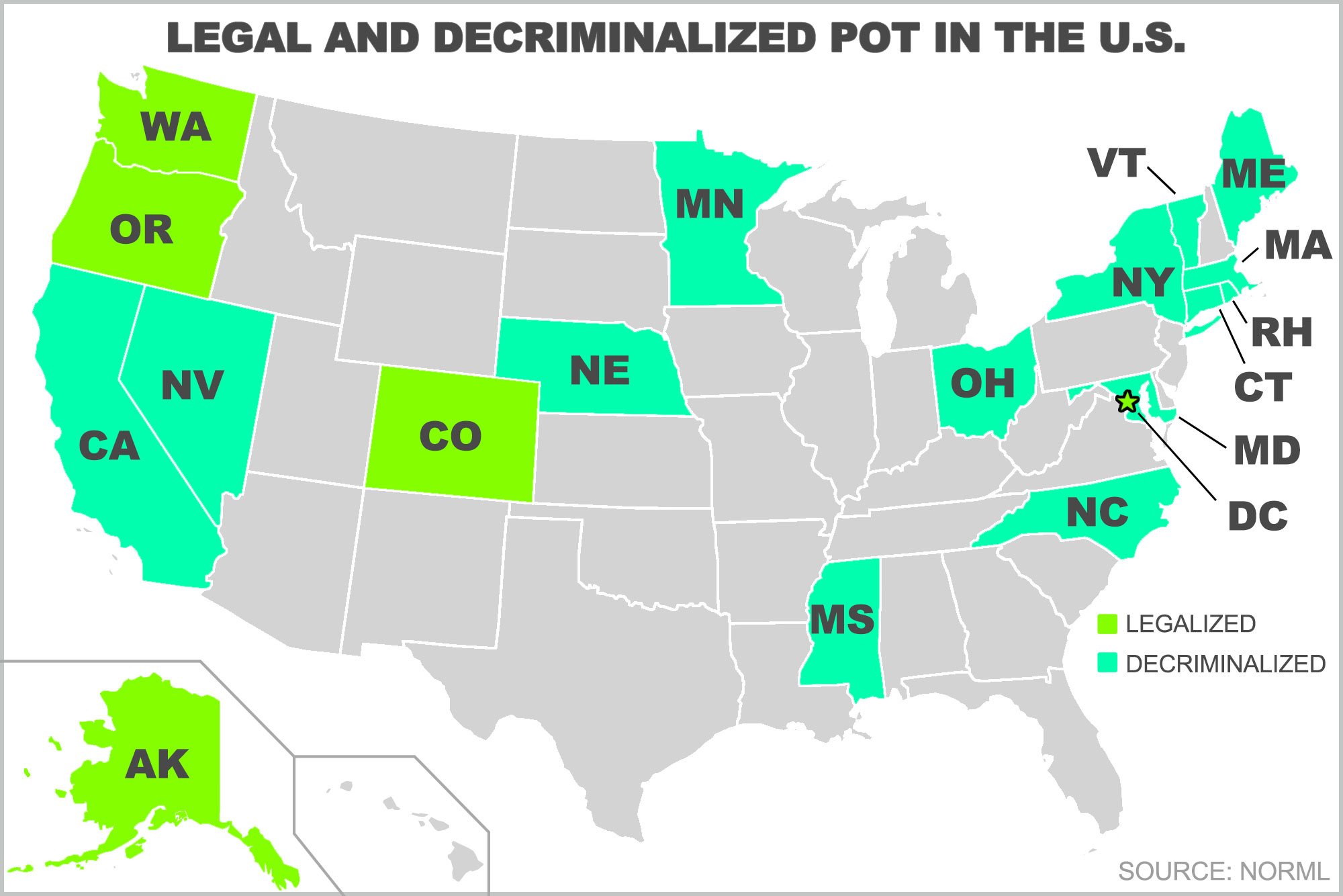 Recent State Legal Developments In Trend Of Decriminalizing